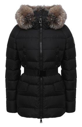 Женский пуховая куртка MONCLER черного цвета, арт. F2-093-1B540-02-C0059 | Фото 1