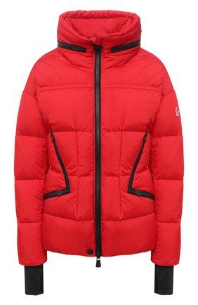 Женский пуховая куртка MONCLER красного цвета, арт. F2-098-1A526-00-5399E | Фото 1