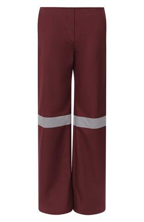Женские брюки SUBTERRANEI бордового цвета, арт. I19subfw20-008   Фото 1