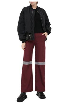 Женские брюки SUBTERRANEI бордового цвета, арт. I19subfw20-008   Фото 2