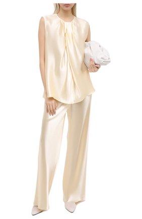 Женские брюки из вискозы THE ROW кремвого цвета, арт. 1766W1723 | Фото 2