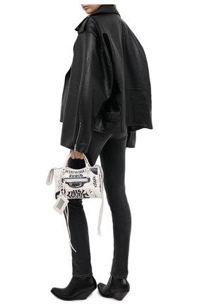 Женские кожаные ботильоны VETEMENTS черного цвета, арт. WAH21B0226 2467   Фото 2