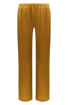 Женские шелковые брюки CARINE GILSON желтого цвета, арт. SD0541-E 2020 | Фото 1