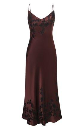 Женская шелковая сорочка CARINE GILSON бордового цвета, арт. MR0383SE 2020 | Фото 1