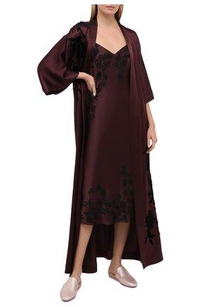 Женская шелковая сорочка CARINE GILSON бордового цвета, арт. MR0383SE 2020 | Фото 2