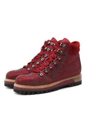 Женские кожаные ботинки LE SILLA бордового цвета, арт. 7510M040M1MMBUR | Фото 1