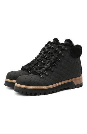 Женские текстильные ботинки LE SILLA черного цвета, арт. 7535R040M1PPTYR | Фото 1