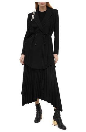 Женские кожаные ботильоны GIUSEPPE ZANOTTI DESIGN черного цвета, арт. I070021/001   Фото 2