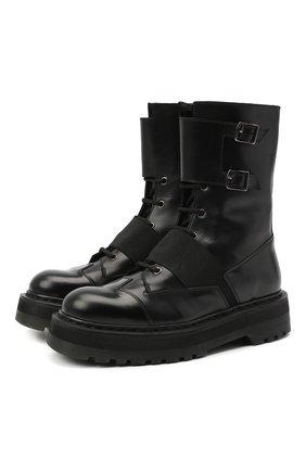 Женские кожаные ботинки  PREMIATA черного цвета, арт. M4970/VAR.3 | Фото 1