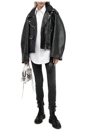 Женские кожаные ботинки  PREMIATA черного цвета, арт. M4970/VAR.3 | Фото 2