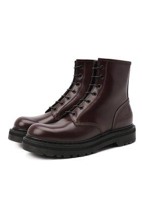 Женские кожаные ботинки PREMIATA бордового цвета, арт. M4973/JIVE | Фото 1