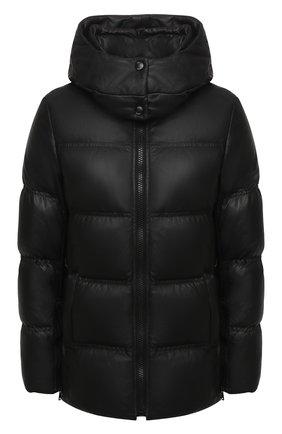 Женский кожаная пуховая куртка YS ARMY PARIS черного цвета, арт. 21WFV20168A24X | Фото 1