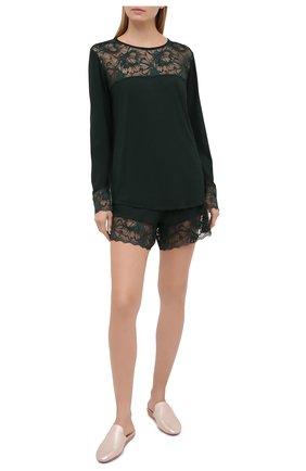 Женские шорты ZIMMERLI темно-зеленого цвета, арт. 762-4146 | Фото 2
