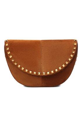 Женская сумка valentino garavani rockstud VALENTINO коричневого цвета, арт. UW2B0H29/DZQ | Фото 1