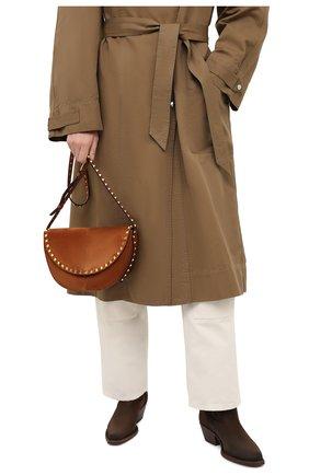 Женская сумка valentino garavani rockstud VALENTINO коричневого цвета, арт. UW2B0H29/DZQ | Фото 2