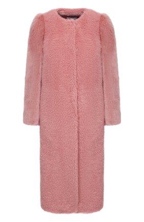 Женская шуба из экомеха REDVALENTINO розового цвета, арт. UR0CAC30/5EA | Фото 1
