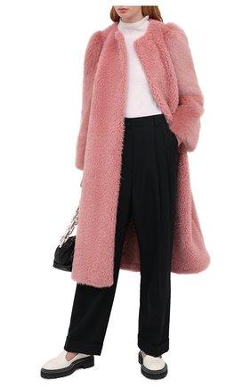 Женская шуба из экомеха REDVALENTINO розового цвета, арт. UR0CAC30/5EA | Фото 2