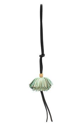Женский брелок LOEWE зеленого цвета, арт. C831232X08 | Фото 1