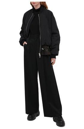 Женские кожаные кроссовки valentino garavani flyover VALENTINO черного цвета, арт. UW0S0AQ5/YAN   Фото 2