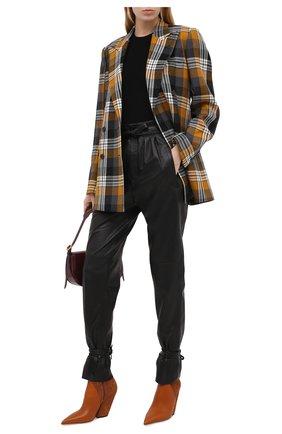 Женские кожаные ботильоны rose BURBERRY коричневого цвета, арт. 8035715 | Фото 2 (Подошва: Плоская; Материал внутренний: Натуральная кожа; Каблук тип: Устойчивый; Каблук высота: Высокий)