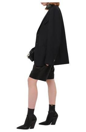 Женские кожаные ботильоны rose BURBERRY черного цвета, арт. 8035886 | Фото 2 (Подошва: Плоская; Материал внутренний: Натуральная кожа; Каблук высота: Высокий; Каблук тип: Устойчивый)