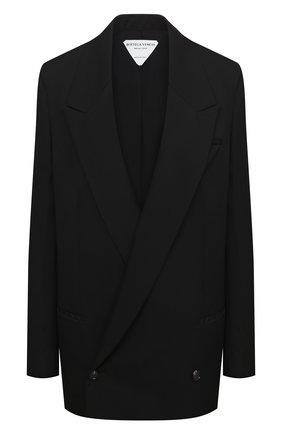 Женский шерстяной жакет BOTTEGA VENETA черного цвета, арт. 628718/VKIS0 | Фото 1