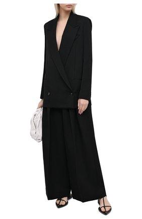 Женский шерстяной жакет BOTTEGA VENETA черного цвета, арт. 628718/VKIS0 | Фото 2