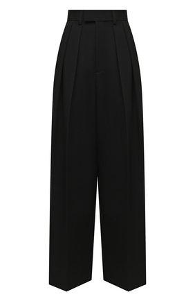 Женские шерстяные брюки BOTTEGA VENETA черного цвета, арт. 627591/VKIS0 | Фото 1