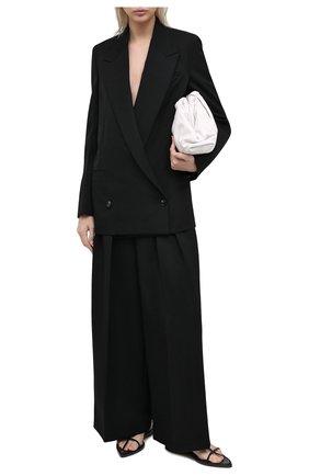 Женские шерстяные брюки BOTTEGA VENETA черного цвета, арт. 627591/VKIS0 | Фото 2