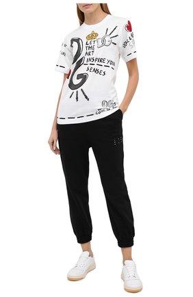 Женская хлопковая футболка DOLCE & GABBANA белого цвета, арт. F8M66T/HI7EH | Фото 2