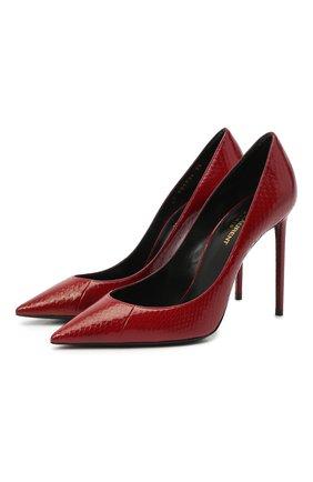 Женская кожаные туфли zoe SAINT LAURENT красного цвета, арт. 601734/EX700 | Фото 1