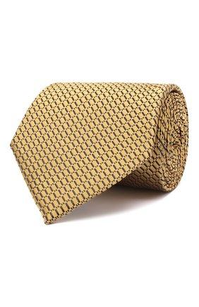 Мужской шелковый галстук ERMENEGILDO ZEGNA желтого цвета, арт. Z8D85/1UM | Фото 1