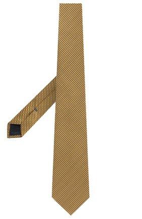 Мужской шелковый галстук ERMENEGILDO ZEGNA желтого цвета, арт. Z8D85/1UM | Фото 2