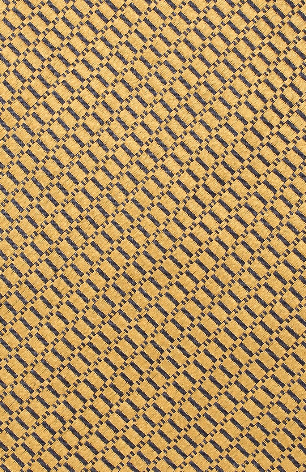 Мужской шелковый галстук ERMENEGILDO ZEGNA желтого цвета, арт. Z8D85/1UM | Фото 3