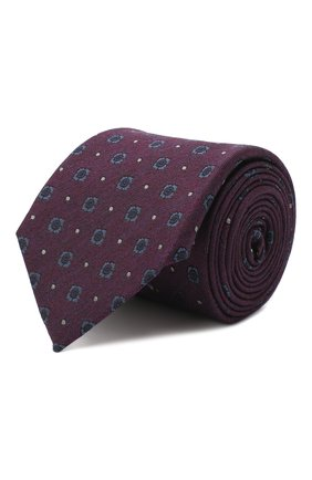 Мужской галстук из шелка и шерсти ERMENEGILDO ZEGNA фиолетового цвета, арт. Z8E30/18H | Фото 1