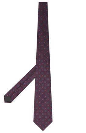Мужской галстук из шелка и шерсти ERMENEGILDO ZEGNA фиолетового цвета, арт. Z8E30/18H | Фото 2