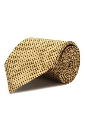 Мужской шелковый галстук ERMENEGILDO ZEGNA желтого цвета, арт. Z8D85/1XW | Фото 1