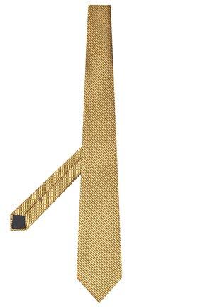 Мужской шелковый галстук ERMENEGILDO ZEGNA желтого цвета, арт. Z8D85/1XW | Фото 2