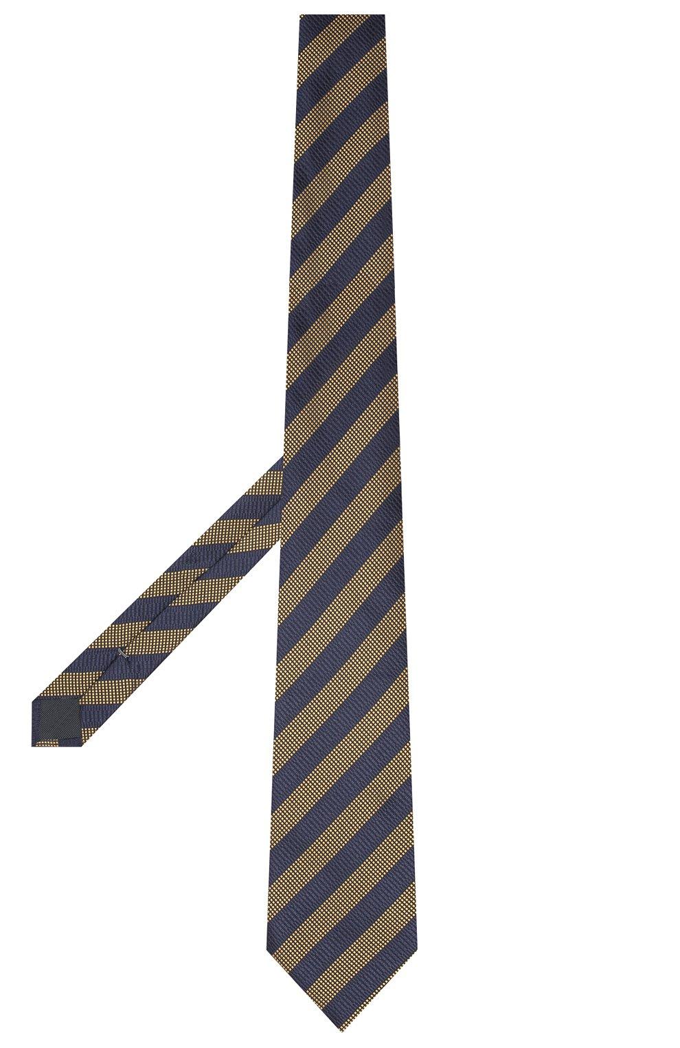 Мужской шелковый галстук ERMENEGILDO ZEGNA темно-синего цвета, арт. Z8D85/1XW   Фото 2