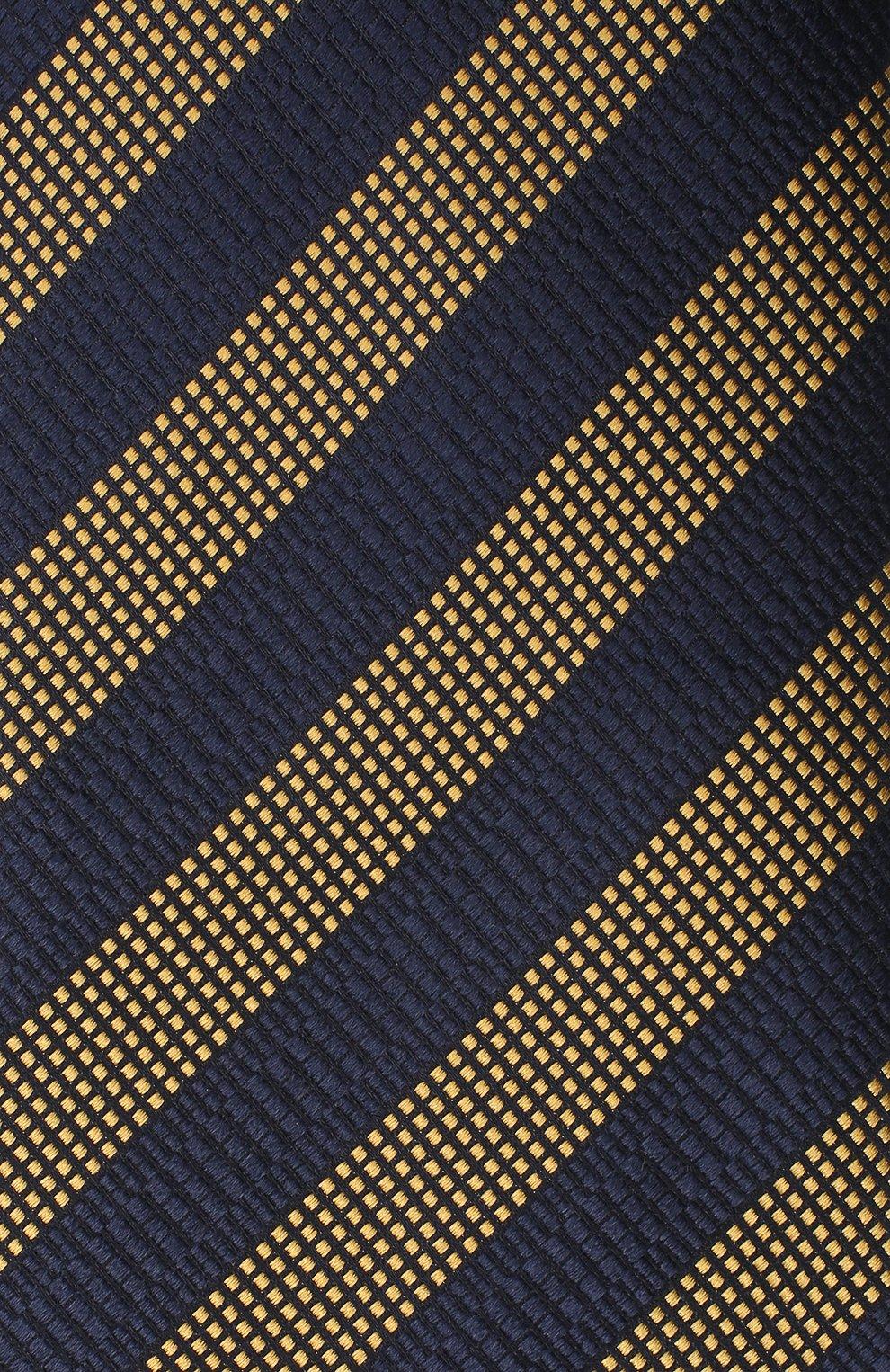 Мужской шелковый галстук ERMENEGILDO ZEGNA темно-синего цвета, арт. Z8D85/1XW   Фото 3