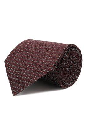 Мужской шелковый галстук ERMENEGILDO ZEGNA коричневого цвета, арт. Z8D73/1XW | Фото 1