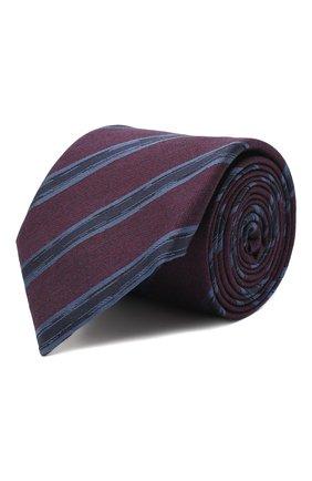 Мужской галстук из шелка и шерсти ERMENEGILDO ZEGNA фиолетового цвета, арт. Z8E34/18H | Фото 1