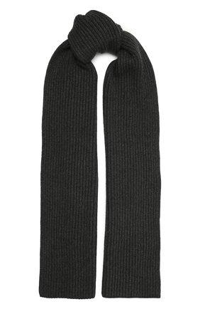 Мужской кашемировый шарф DOLCE & GABBANA темно-серого цвета, арт. GX702T/JAW0V | Фото 1