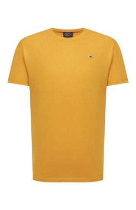 Мужская хлопковая футболка PAUL&SHARK желтого цвета, арт. C0P1092/C00 | Фото 1
