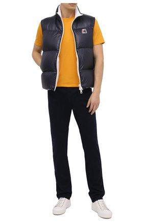 Мужская хлопковая футболка PAUL&SHARK желтого цвета, арт. C0P1092/C00   Фото 2