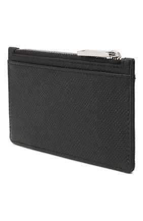 Мужской кожаный футляр для кредитных карт BOSS черного цвета, арт. 50326710 | Фото 2