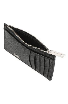 Мужской кожаный футляр для кредитных карт BOSS черного цвета, арт. 50326710 | Фото 3