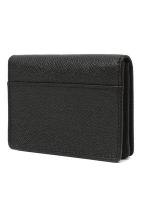 Мужской кожаный футляр для кредитных карт BOSS черного цвета, арт. 50437551 | Фото 2