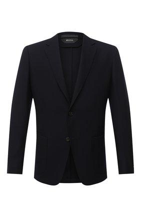 Мужской шерстяной пиджак Z ZEGNA темно-синего цвета, арт. 854719/1X7YG0   Фото 1