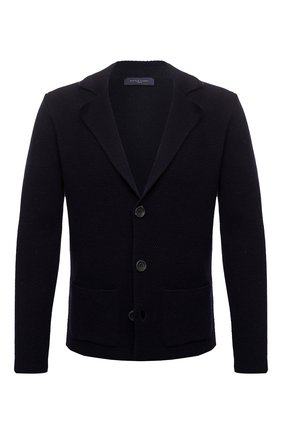 Мужской шерстяной пиджак DANIELE FIESOLI темно-синего цвета, арт. DF 0114   Фото 1
